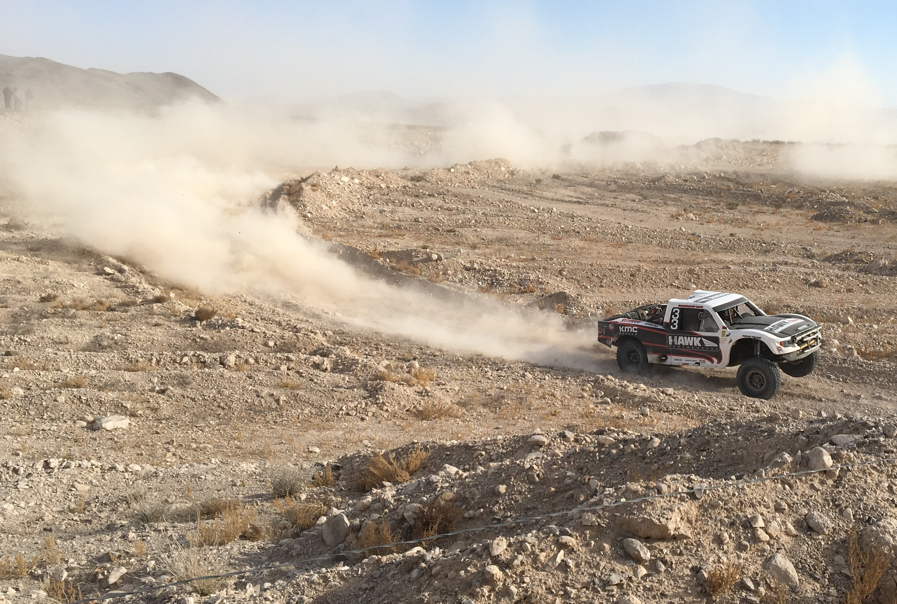KMC team getting sideways in the quarry
