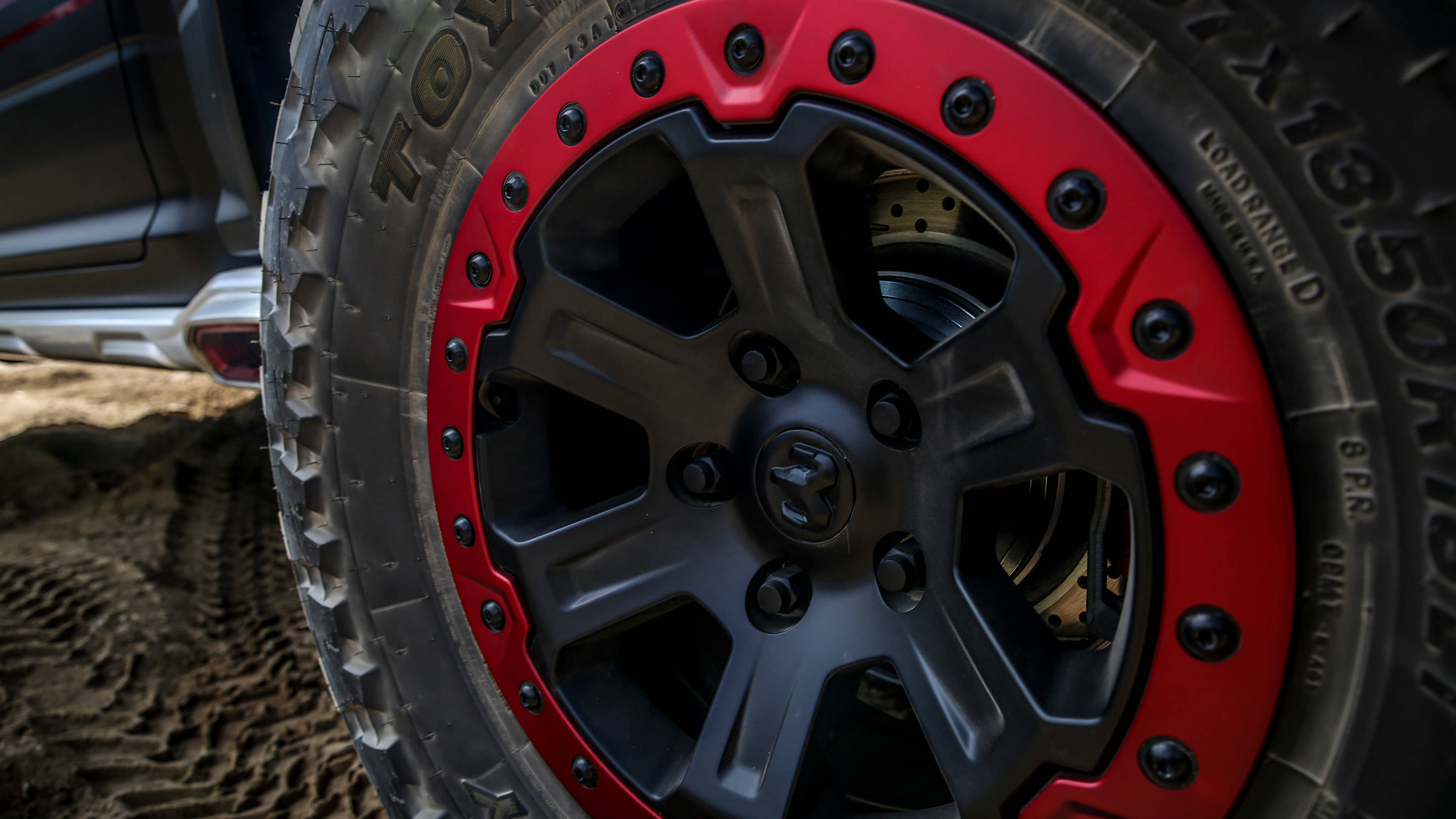 Bead-Locked 37-inch Tires from the factory! Photo: ramtrucks