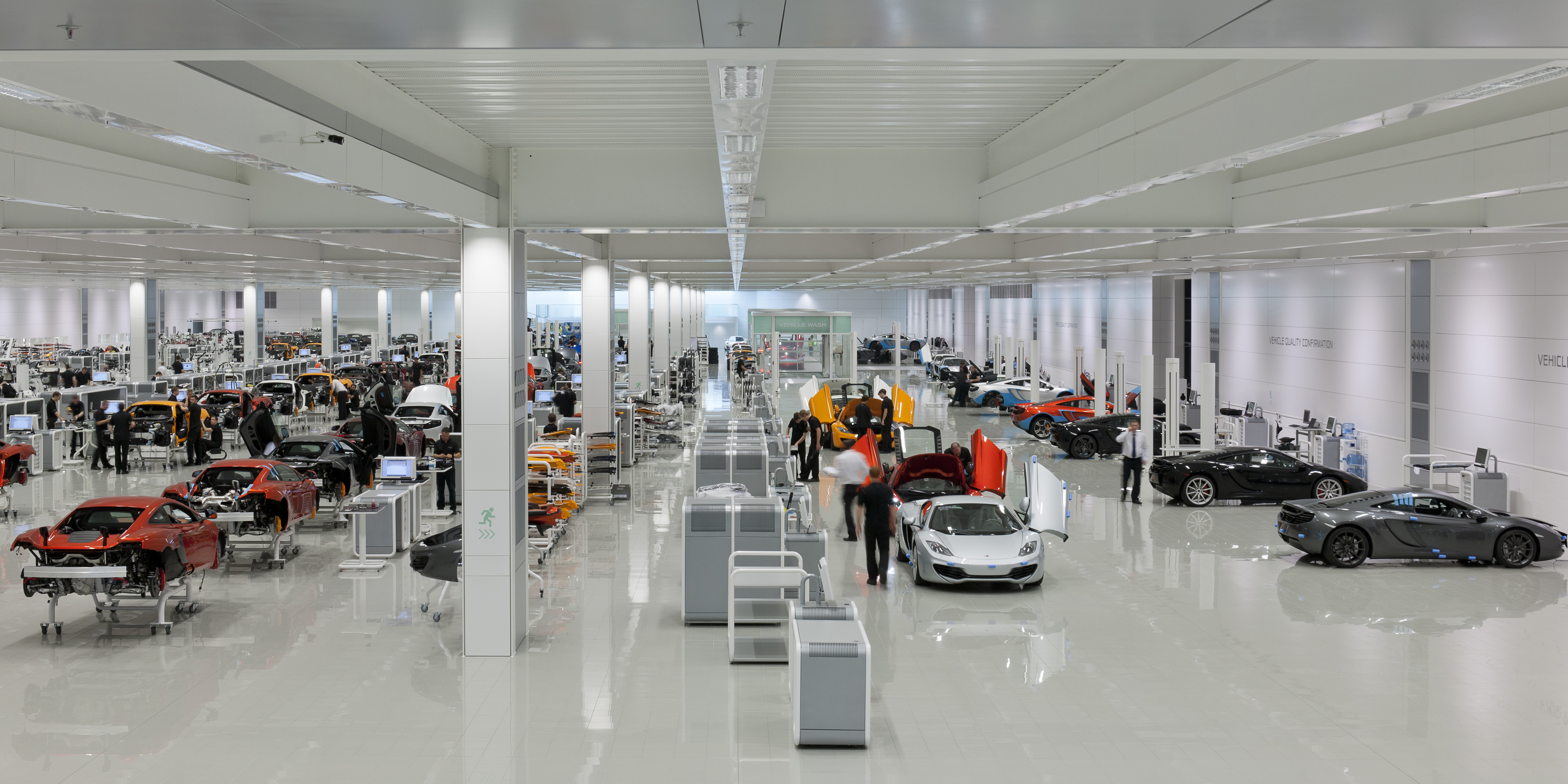 Spotless factory floor at McLaren Photo: britishfamily