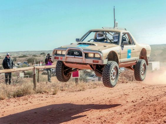 Heavily modified old Subaru Brat catching some serious air! Photo: pinterest