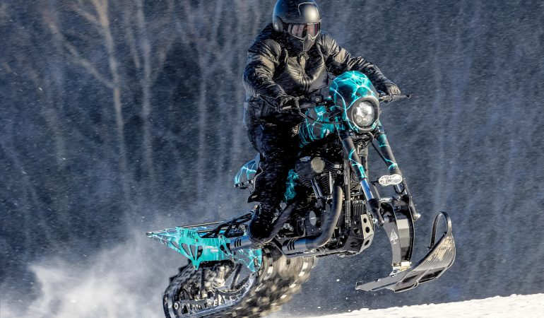 Harley Davidson Snow Drag: Timbersled Converted Sportster Roadster from Slovakia