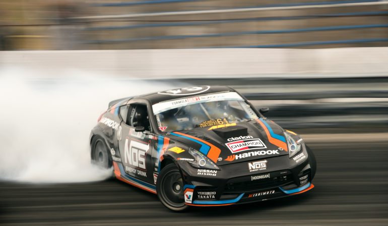 The Glory of a Formula Drift Champion on a Closed Canyon Road