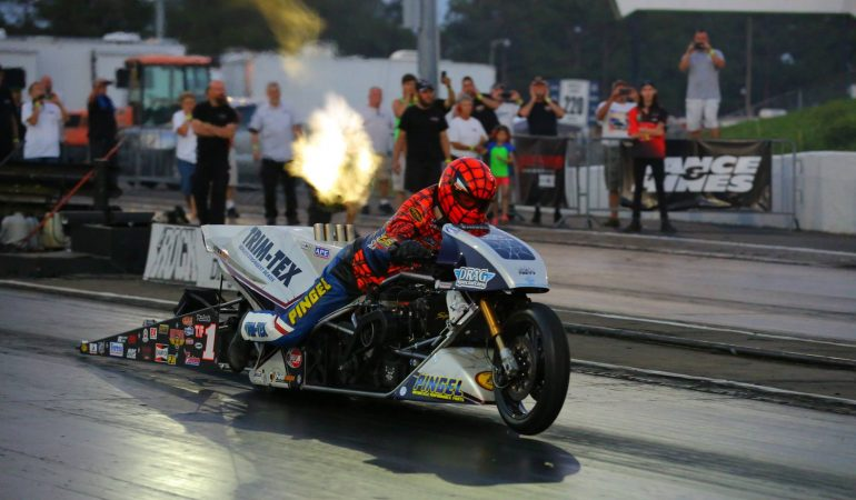Riding a 1500hp Top Fuel Drag Bike is 5.8 Seconds of Pure Insanity