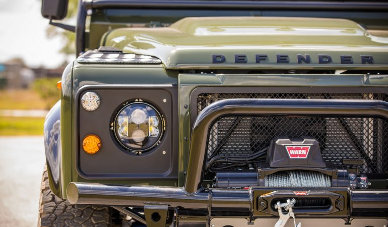 This Corvette Powered Land Rover Defender 130 Pickup is What Dreams are Made Of