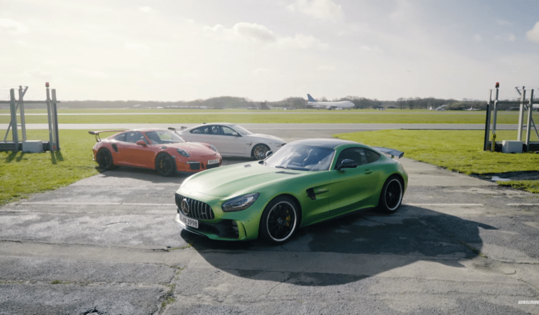 Chris Harris, A BMW M4 GTS, An AMG GT-R, And A Porsche 911 GT3. This Is What Dreams Are Made Of