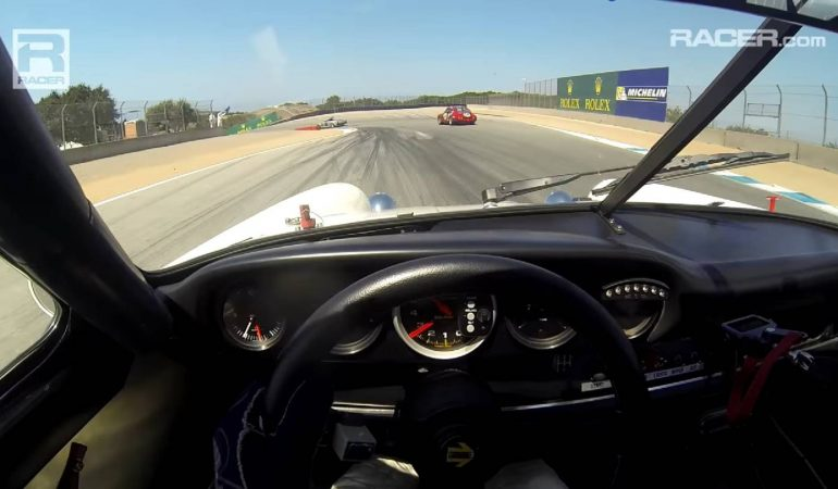 Visor Cam Footage From A  Vintage 911 Around Laguna Seca Raceway, It Does Not Get Better Than This